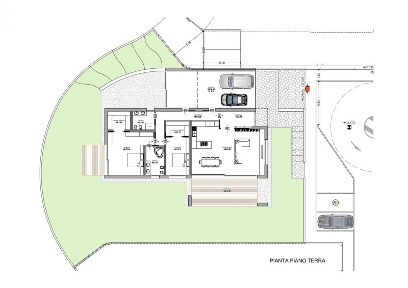 Progettazione edifici residenziali e civili studio pasin - Pianta casa bifamiliare ...